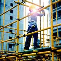 کارگران داربست فلزی